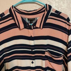 Torrid full button down blouse